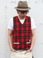 BELAFONTE(ベラフォンテ) RAGTIME RIBBED KNIT PULL OVER VEST コーデ紹介