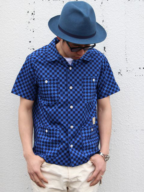 BELAFONTE(ベラフォンテ)CHECKER FLAG HOLLYWOOD LEISURE S/S SHIRT コーデ紹介