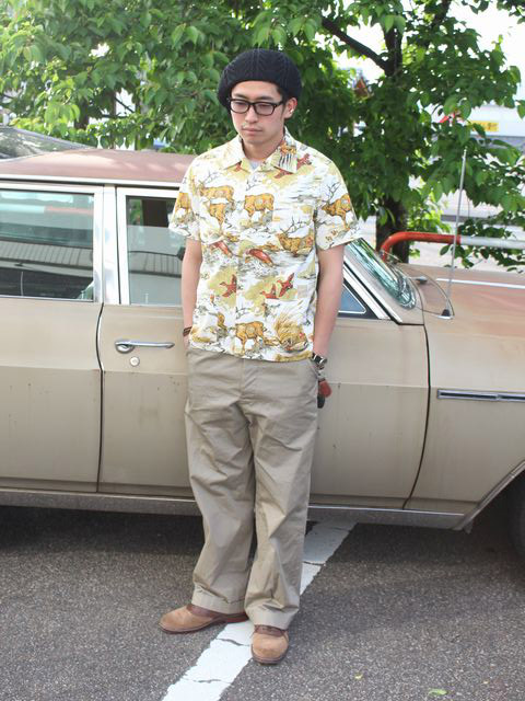BELAFONTE 新作 HUNTING PRINT HOLLYWOOD LEISURE S/S SHIRT の着こなしブログ