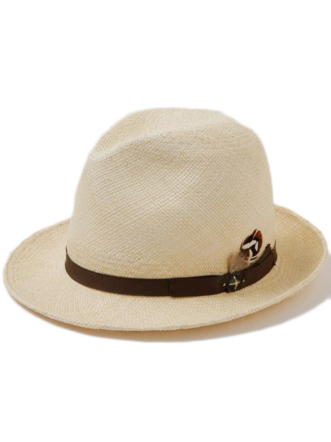 RAGTIME-PANAMA-HAT-PANAMA-YELLOW-x-BROWN-TAPE